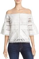 Lucy Paris Lace Off-the-Shoulder Blouse