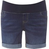 Dorothy Perkins Womens **Maternity Mid Wash Under Bump Boyfriend Shorts- Blue