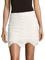 Style Stalker Asymmetric Rippled Skirt