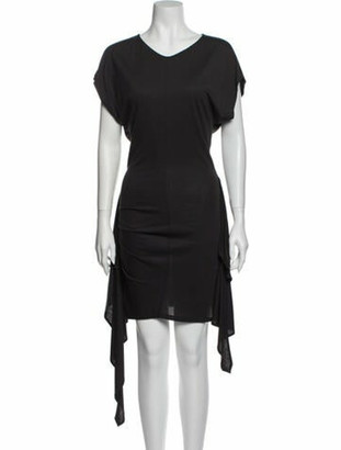 Etoile Isabel Marant Scoop Neck Midi Length Dress Grey