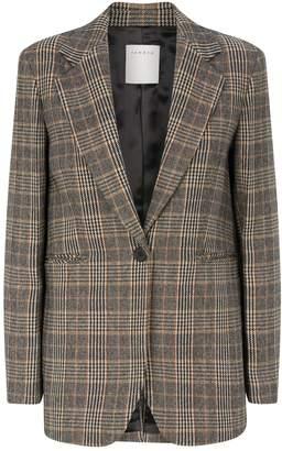 Sandro Prince of Wales Check Wool Blazer