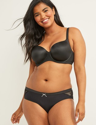 Lane Bryant No-Show Hipster Panty With Lace Trim