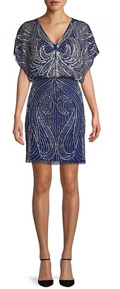 Aidan Mattox Embellished V-Neck Dress