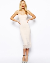 Asos Midi Cami Dress with Mesh Insert