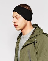 Asos Neoprene Head Band In Black