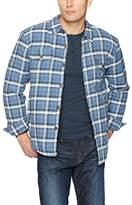 True Grit Men's Vintage Summit Plaid Faux Sherpa Shirt Jacket With Pockets