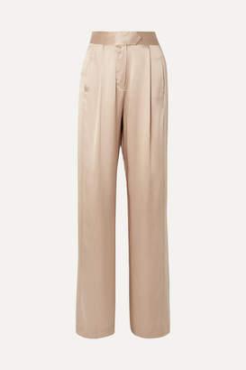 Mason by Michelle Mason Wide-leg Silk-charmeuse Pants - Off-white