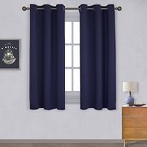 Nicetown All Season Thermal Insulated Solid Grommet Top Blackout Curtains / Drapes for Kid's Room (1 Pair,42 x 63 Inch in Royal Blue)