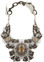 Lanvin Crystal & Lucite Plate Statement Necklace