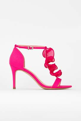 Wallis **Pink Frill Front Heeled Sandal