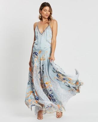 Camilla Long Godet Slip Dress