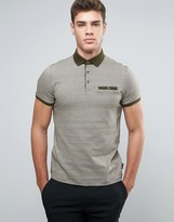 Ted Baker Jersey Polo in Pattern