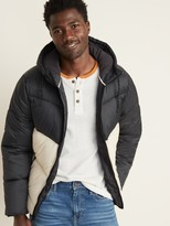 Old Navy Go-H20 Water-Resistant Hooded Puffer Jacket for Men