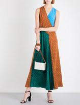 Diane von Furstenberg Polka-dot silk-crepe maxi dress