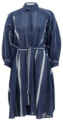 Palmer Harding Palmer//harding - Poet Striped Cotton-poplin Shirt Dress - Navy Stripe