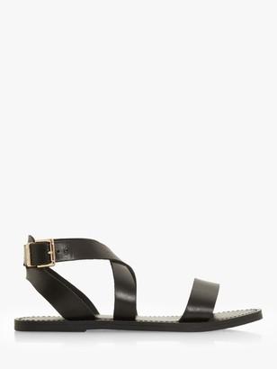 Dune Leelah Leather Cross Over Strap Sandals