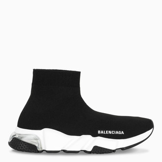 Balenciaga Black/white Speed Clear Sole sneakers