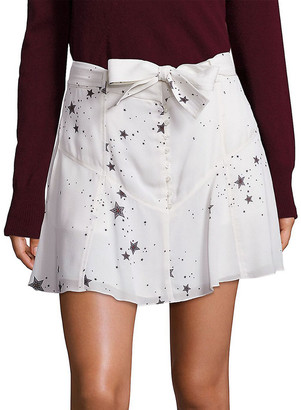 A.L.C. Star Print Silk Skirt