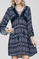 En Creme Boho Print Dress