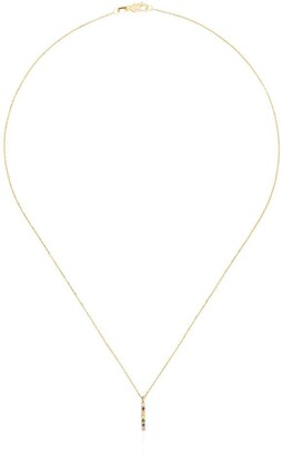 Mateo 14kt Gold Rainbow Bar Necklace