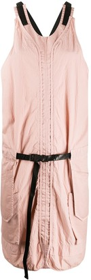 Aries Crinkled Effect Cross Back Dress