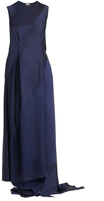 Loewe Sleeveless Satin Maxi Dress