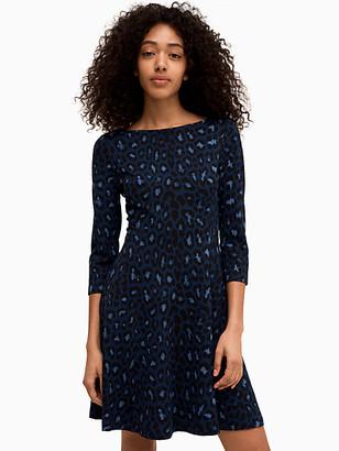 Kate Spade Broome Street Leopard Ponte Dress