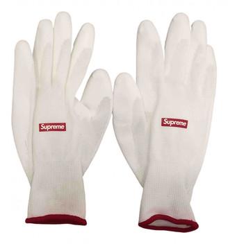 Supreme White Polyester Gloves