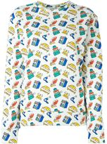 Au Jour Le Jour travel print sweatshirt