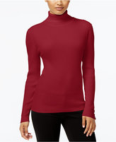 Style&Co. Style & Co Petite Ribbed Turtleneck Sweater, Only at Macy's