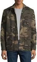 Ovadia & Sons Camo-Print Field Shirt Jacket, Green