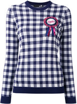 Love Moschino checked ribbon motif sweater - women - Viscose/Polyester - 40