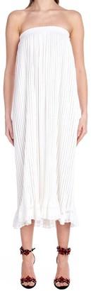 Alaia Strapless Flounce Dress