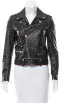 Saint Laurent Distressed Leather Jacket w/ Tags