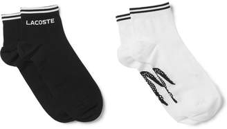 Lacoste Tennis Two-Pack Logo-Intarsia Cotton-Blend Socks
