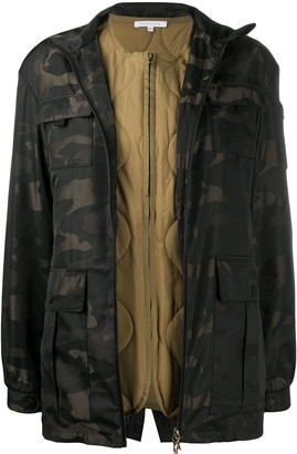 Patrizia Pepe Camouflage Belted Jacket