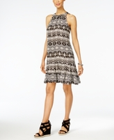 NY Collection Petite Printed Tiered Shift Dress