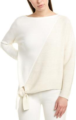 Lafayette 148 New York Tie-Front Silk-Blend Pullover