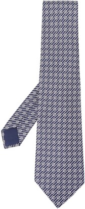 Hermes 2000s Diagonal Stripe Print Tie