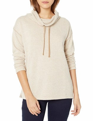 Chaps Women's Pull Over Cowl Neck Long Sleeve Sweater