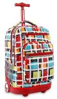 J World JWorld Sundance Laptop Rolling Backpack - Color Stripes