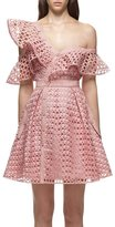 Self-Portrait Self Portrait Lace Frill Mini Dress Pink