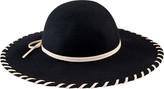 San Diego Hat Company Women's Wool Floppy Hat with Whip Stitch Brim WFH3548
