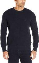 Nautica Men's Long Sleeve Thermo Stitch Crewneck Sweater
