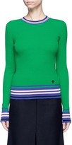 Emilio Pucci Stripe cotton rib knit sweater