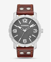 Express norfolk brown leather strap watch