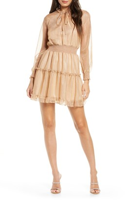 NSR Emma Floral Print Ruffle Dress