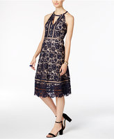 INC International Concepts Floral-Lace A-Line Dress, Created for Macy's