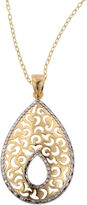 JCPenney FINE JEWELRY 14K Gold Over Silver Textured Teardrop Pendant Necklace