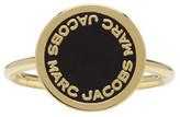 Marc Jacobs Gold Enamel Logo Disc Ring